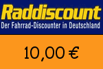 Raddiscount 10,00 Euro Gutscheincode