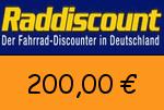 Raddiscount 200,00 Euro Gutscheincode