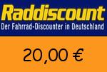Raddiscount 20 € Gutscheincode