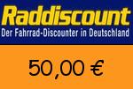 Raddiscount 50,00 € Gutscheincode