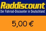 Raddiscount 5,00€ Gutscheincode