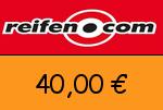 Reifen.com 40,00 Euro Gutschein