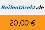 ReifenDirekt 20 € Gutschein