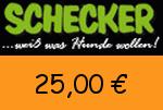 Schecker 25,00 Euro Gutschein