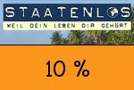 Staatenlos 10 Prozent Gutscheincode