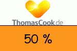 Thomascook 50 % Gutschein