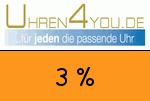 Uhren4you 3 Prozent Gutschein