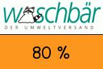 Waschbär 80 Prozent Gutschein