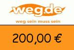weg.de 200,00 Euro Gutscheincode