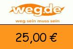 weg.de 25,00 Euro Gutschein