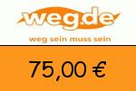 weg.de 75,00 Euro Gutschein