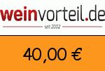 Weinvorteil 40,00 Euro Gutschein