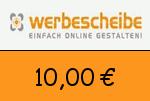 Werbescheibe 10,00 Euro Gutscheincode