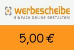 Werbescheibe 5,00€ Gutscheincode