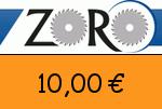Zoro 10,00 Euro Gutschein