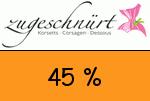 Zugeschnuert-shop 45 Prozent Gutschein