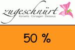 Zugeschnuert-shop 50 % Gutscheincode