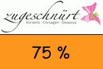 Zugeschnuert-shop 75 Prozent Gutschein