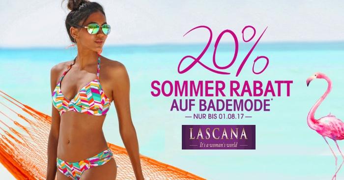 20% Lascana Gutschein für Bademode