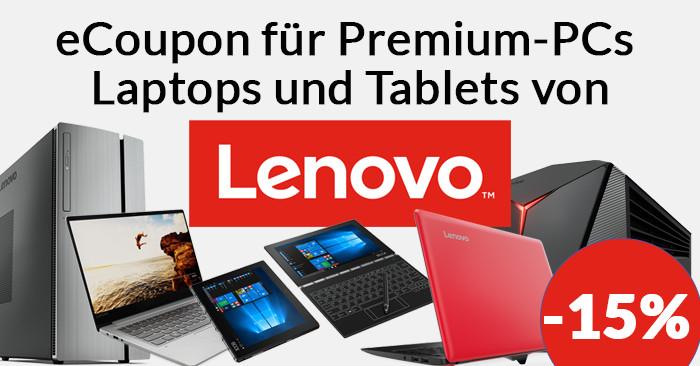 Lenovo eCoupon für ThinkPad Laptops PCs Tablets