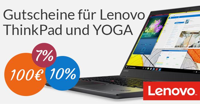 Lenovo Gutschein für ThinkPad und Yoga