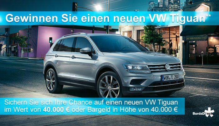 VW Tiguan Gewinnspiel bei Burdadirect