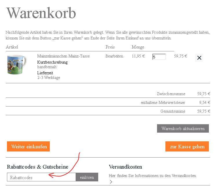ZDF-Shop Rabattcode einlösen - Anleitung